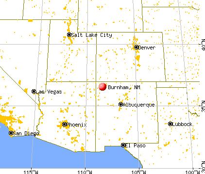 Burnham, New Mexico map