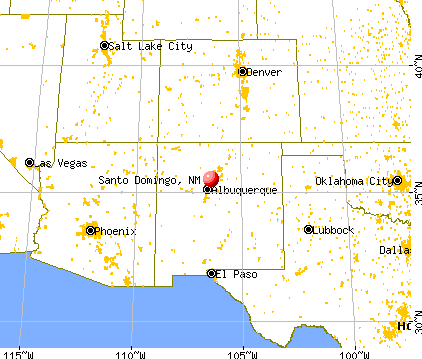 Santo Domingo New Mexico NM Profile Population Maps Real - New mexico in us map