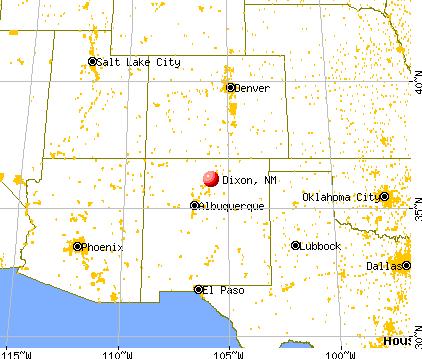 Dixon, New Mexico map