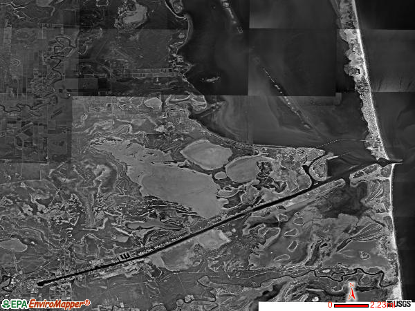 East Cameron satellite photo by USGS