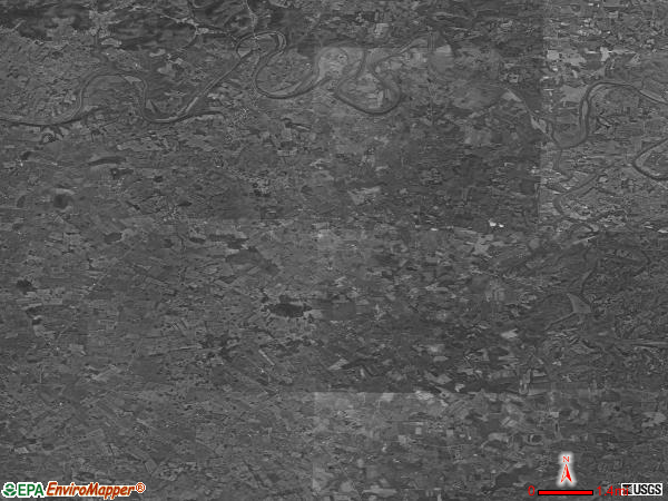 Hardyville satellite photo by USGS