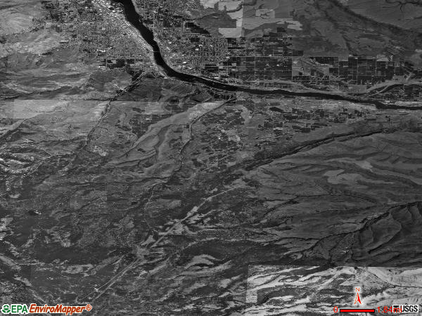 Malaga satellite photo by USGS
