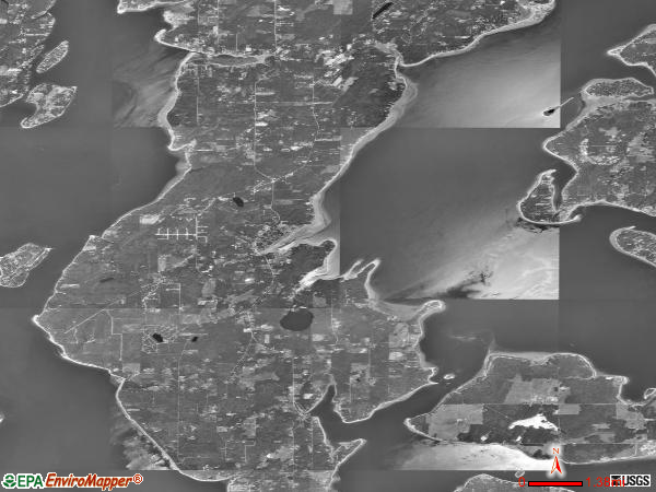 Lower Peninsula satellite photo by USGS
