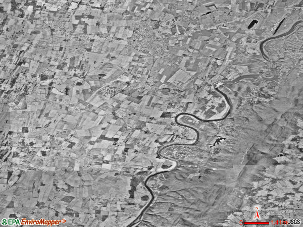 Kabletown district satellite photo by USGS