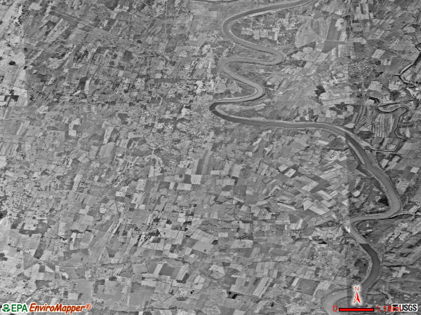 Shepherdstown district satellite photo by USGS
