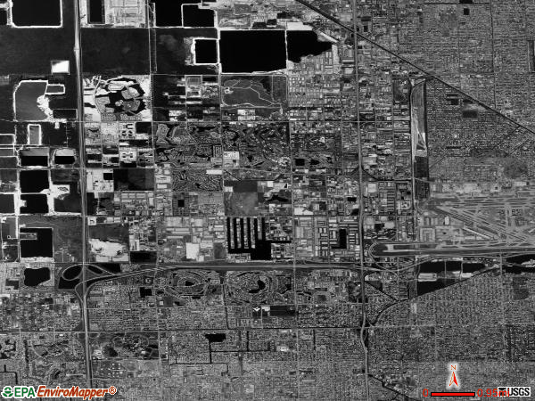 North Westside satellite photo by USGS