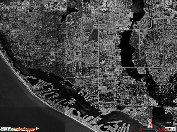 Boca Ciega satellite photo by USGS