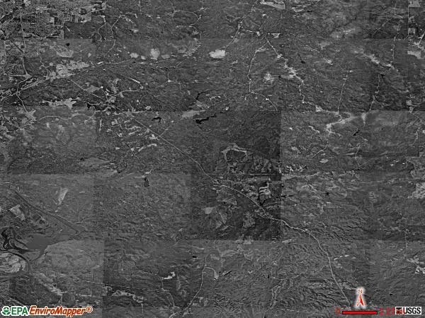Fort Benning satellite photo by USGS