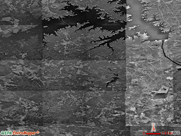 Appling satellite photo by USGS