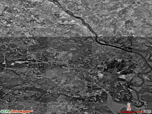 Augusta satellite photo by USGS