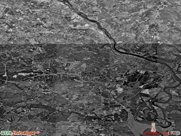 Augusta satellite photo by USGS
