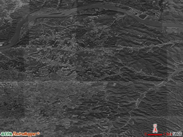 Tollesboro satellite photo by USGS