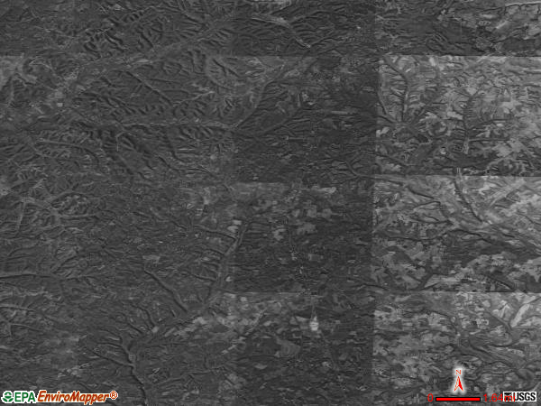 Waynesburg satellite photo by USGS
