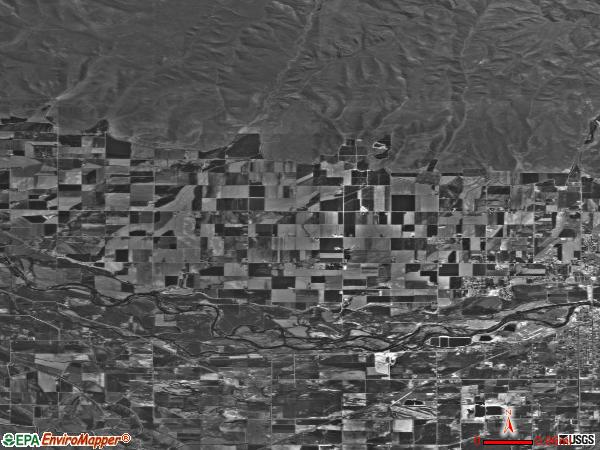 Emmett Bench satellite photo by USGS