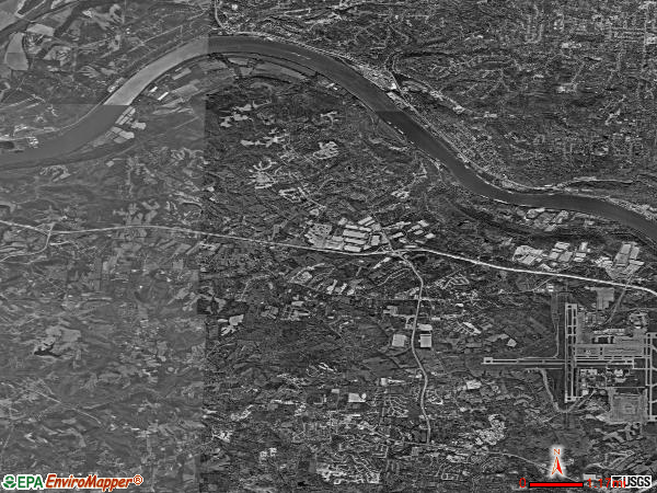 Hebron satellite photo by USGS