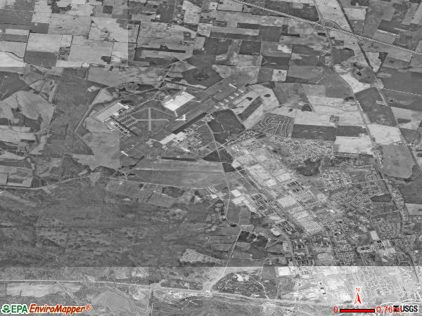 Fort Campbell satellite photo by USGS