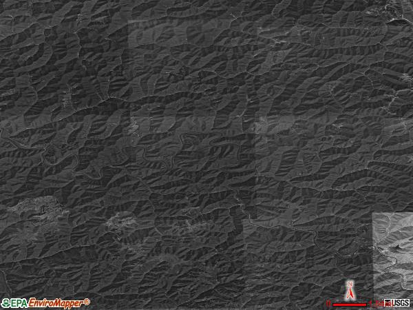 Fedscreek satellite photo by USGS