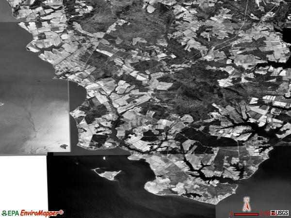 District 7, Milestown satellite photo by USGS