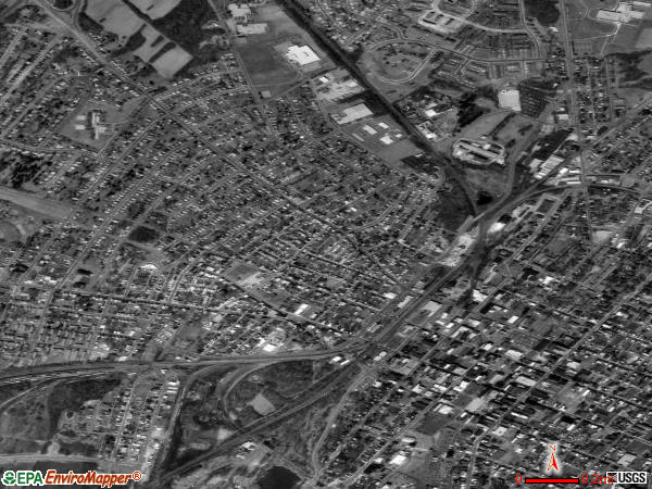 District 25, Hagerstown satellite photo by USGS
