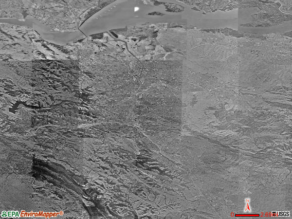 Central Contra Costa satellite photo by USGS