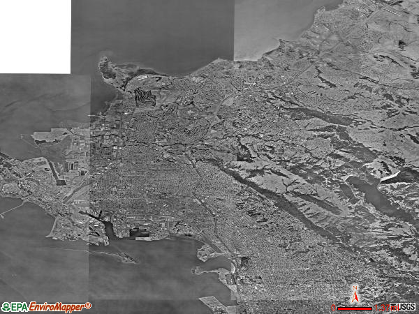 West Contra Costa satellite photo by USGS