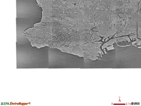 Palos Verdes satellite photo by USGS
