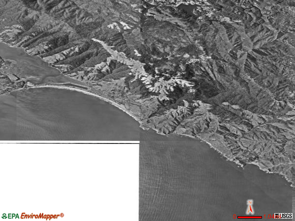 Southwest Marin satellite photo by USGS