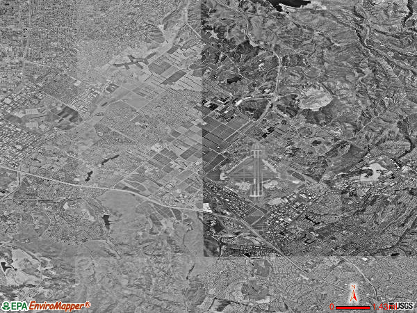El Toro satellite photo by USGS