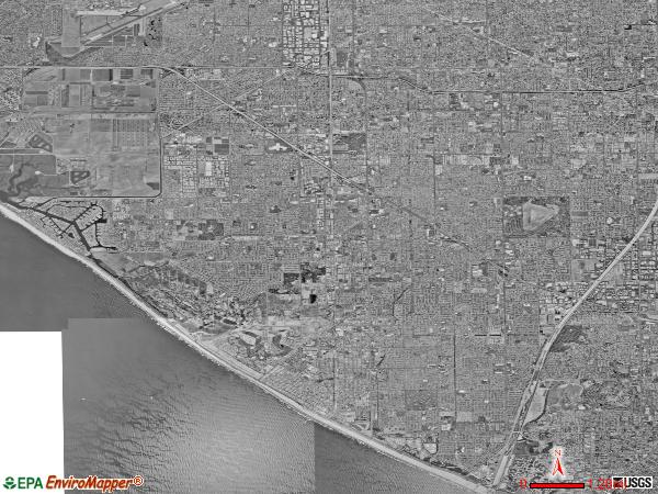 North Coast satellite photo by USGS