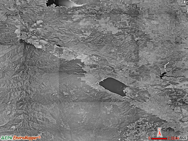 Elsinore Valley satellite photo by USGS