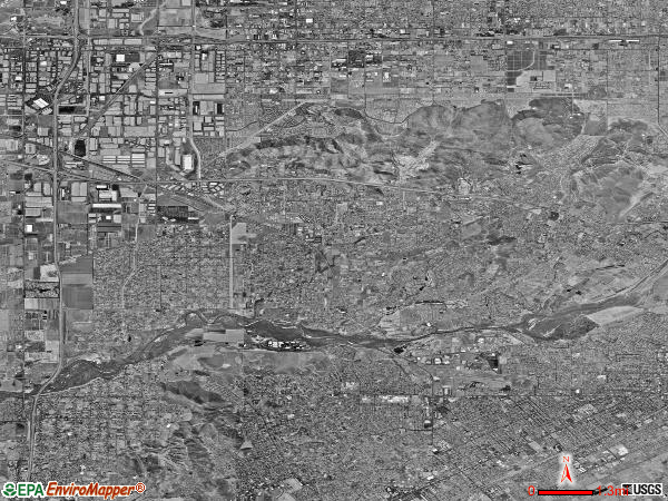 Jurupa satellite photo by USGS