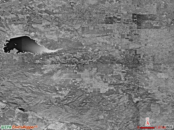 Lake Mathews satellite photo by USGS