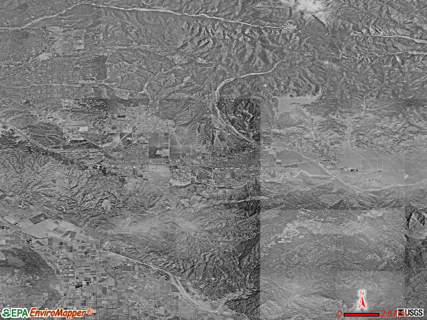 San Gorgonio Pass satellite photo by USGS
