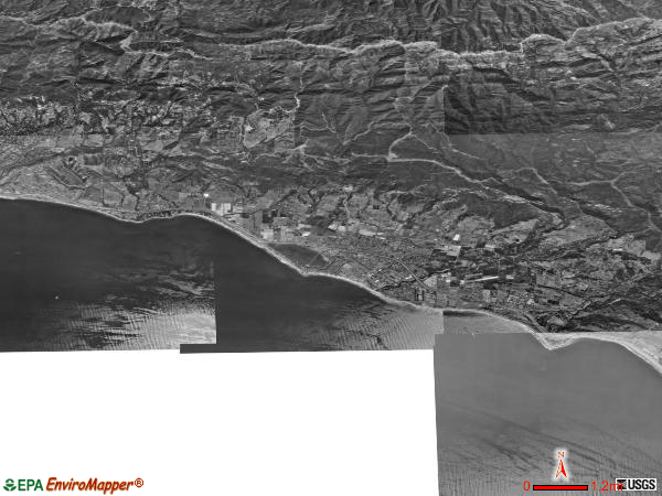 Carpinteria Valley satellite photo by USGS