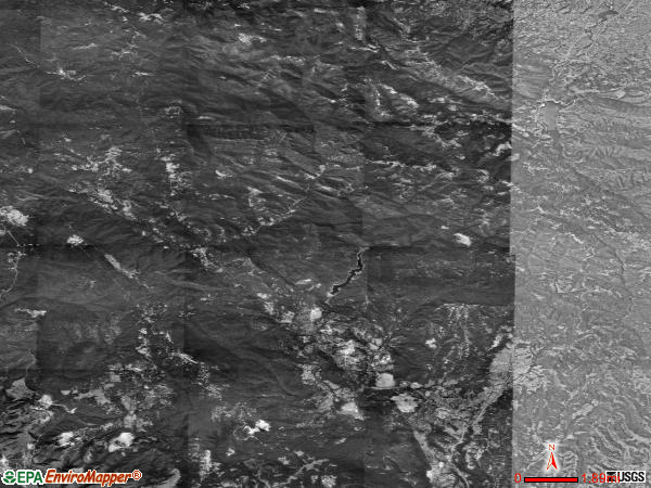 San Lorenzo Valley satellite photo by USGS