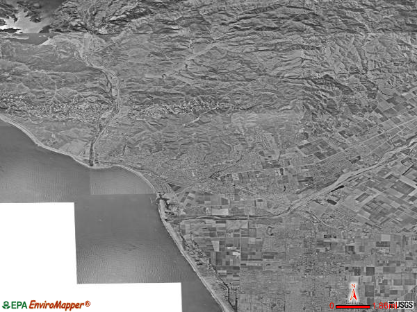 Ventura satellite photo by USGS