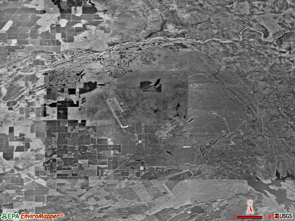 Linda Rural satellite photo by USGS