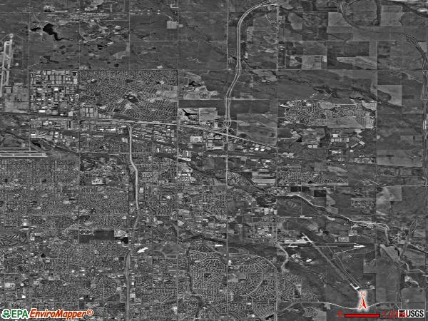 North Aurora satellite photo by USGS