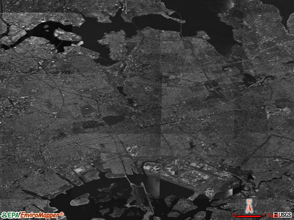 Queens satellite photo by USGS