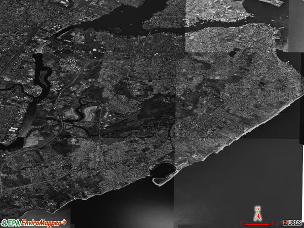 Staten Island satellite photo by USGS