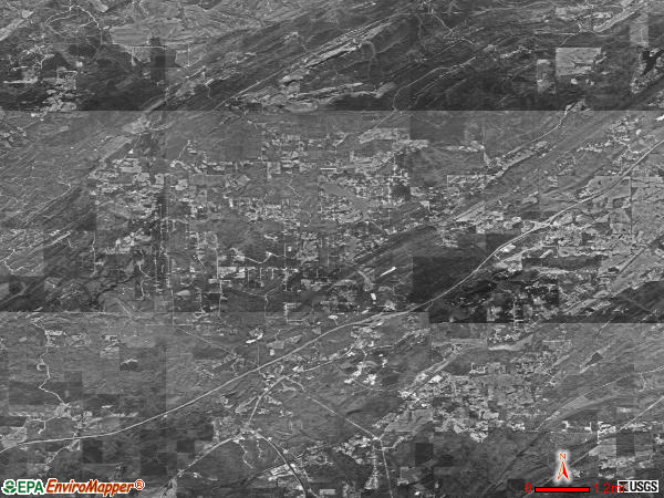 Abernant satellite photo by USGS