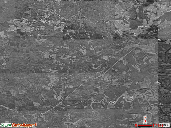 Fosters satellite photo by USGS