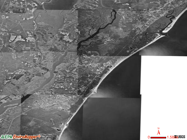 Waccamaw satellite photo by USGS
