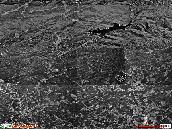 Tigerville satellite photo by USGS