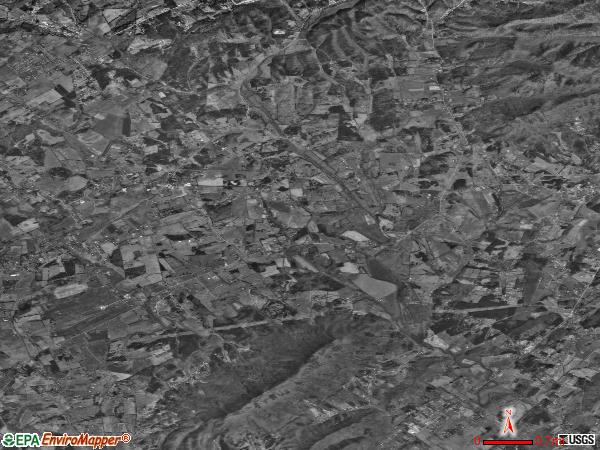 Corryton satellite photo by USGS