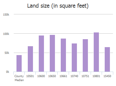 Land size (in square feet) of Big Horn Trail, Frisco, TX: 10501, 10551, 10600, 10601, 10650, 10661, 10740, 10751, 10801, 15450