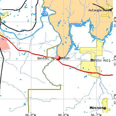 Benton, AL map