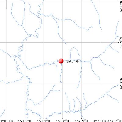 Flat, AK map