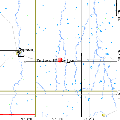 Carlton, KS map