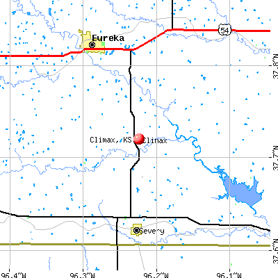 Climax, KS map